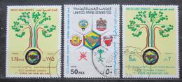 Poštovní známky S.A.E. 1986 Spolupráce v Perském zálivu Mi# 207-09 Kat 6.50€