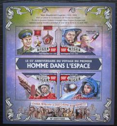 Poštovní známky Niger 2016 Jurij Gagarin Mi# 4052-55 Kat 14€