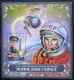Poštovní známka Niger 2016 Jurij Gagarin Mi# Block 515 Kat 14€
