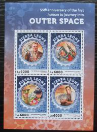 Poštovní známky Sierra Leone 2016 Jurij Gagarin Mi# 7203-06 Kat 11€