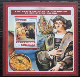 Poštovní známka Niger 2016 Plachetnice, Kryštof Kolumbus Mi# Block 631 Kat 13€