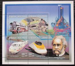 Poštovní známky Madagaskar 1996 Lokomotivy Mi# 1847-50