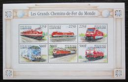 Poštovní známky Gabon 2000 Nìmecké lokomotivy Mi# 1517-22 Kat 11€