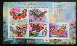 Poštovní známky Komory 2011 Motýli Mi# 2976-80 Bogen Kat 11€