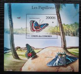 Poštovní známka Komory 2011 Motýli Mi# Block 618 Kat 10€