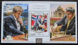 Poštovní známka Niger 2015 Slavní šachisti Mi# Block 421 Kat 10€