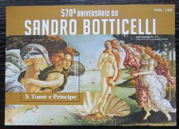 Poštovní známka Svatý Tomáš 2015 Umìní, Sandro Botticelli Mi# Block 1095 Kat 10€