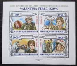 Poštovní známky Burundi 2013 Valentina Tìreškovová Mi# 3123-26 Kat 8.90€