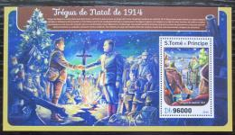 Poštovní známka Svatý Tomáš 2016 Vánoce Mi# Block 1225 Kat 10€