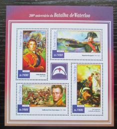 Poštovní známky Svatý Tomáš 2015 Bitva u Waterloo, Napoleon Mi# 5995-98