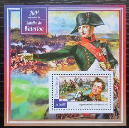 Poštovní známka Svatý Tomáš 2015 Bitva u Waterloo, Napoleon Mi# Block 1054 Kat 8.50€