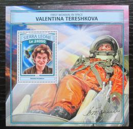 Poštovní známka Sierra Leone 2016 Valentina Tìreškovová Mi# Block 1112 Kat 11€