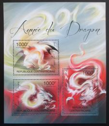 Poštovní známky SAR 2011 Èínský nový rok, rok draka Mi# 3164-66 Kat 12€
