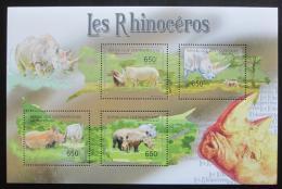 Poštovní známky SAR 2011 Nosorožci Mi# Mi# 3045-48 Kat 10€