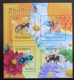 Poštovní známky Mosambik 2013 Vèely Mi# 6652-55 Kat 13€