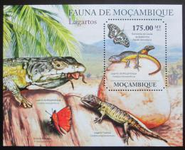 Poštovní známka Mosambik 2011 Ještìrky Mi# Block 496 Kat 10€
