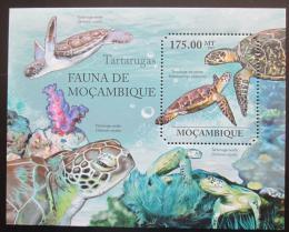 Poštovní známka Mosambik 2011 Moøské želvy Mi# Block 495 Kat 10€