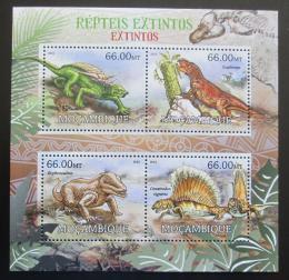 Poštovní známky Mosambik 2012 Prehistoriètí plazi Mi# 5836-39 Kat 15€