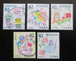 Poštovní známky Japonsko 2018 Den psaní dopisù Mi# 9194-98 Kat 8€