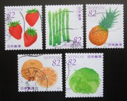 Poštovní známky Japonsko 2015 Ovoce a zelenina Mi# 7171-75 Kat 8€
