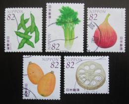 Poštovní známky Japonsko 2015 Ovoce a zelenina Mi# 7437-41 Kat 8€
