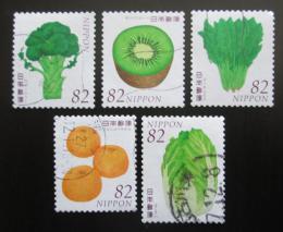 Poštovní známky Japonsko 2015 Ovoce a zelenina Mi# 7630-34 Kat 8€