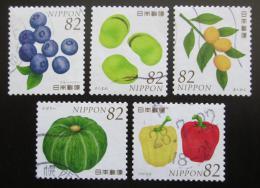 Poštovní známky Japonsko 2016 Ovoce a zelenina Mi# 7859-63 Kat 8€