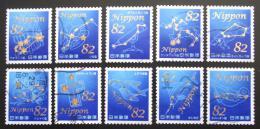 Poštovní známky Japonsko 2017 Souhvìzdí Mi# 8410-19 Kat 16€