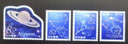 Poštovní známky Japonsko 2017 Souhvìzdí a Saturn Mi# 8237-40 Kat 6.40€