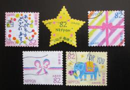 Poštovní známky Japonsko 2017 Den psaní dopisù Mi# 8624-28 Kat 8€
