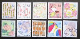 Poštovní známky Japonsko 2015 Den psaní dopisù Mi# 7314-23 Kat 16€
