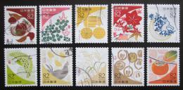 Poštovní známky Japonsko 2017 Barvy Mi# 8749-58 Kat 16€