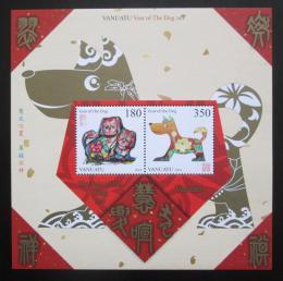 Poštovní známky Vanuatu 2017 Èínský nový rok, rok psa Mi# Mi# Block 75