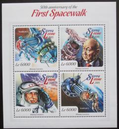 Poštovní známky Sierra Leone 2015 Alexej Leonov, kosmonaut Mi# 6153-56 Kat 11€