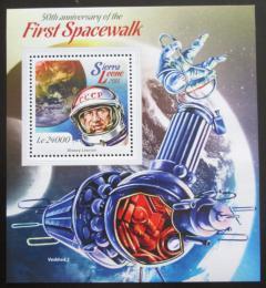 Poštovní známka Sierra Leone 2015 Alexej Leonov, kosmonaut Mi# Block 765 Kat 11€