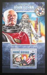 Poštovní známka Guinea-Bissau 2016 John Glenn Mi# Block 1514 Kat 13.50€