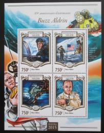 Poštovní známky Niger 2015 Buzz Aldrin, kosmonaut Mi# 3360-63 Kat 12€