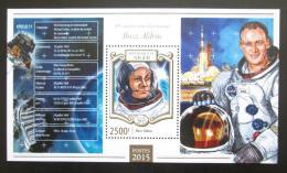 Poštovní známka Niger 2015 Buzz Aldrin, kosmonaut Mi# Block 416 Kat 10€