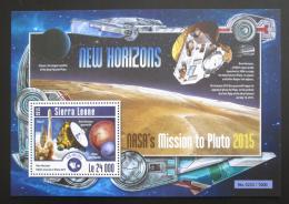 Poštovní známka Sierra Leone 2015 Mise k planetì Pluto Mi# Block 790 Kat 11€