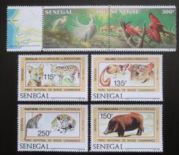 Poštovní známky Senegal 1987 Fauna NP Basse Casamance TOP SET Mi# 938-43 Kat 35€
