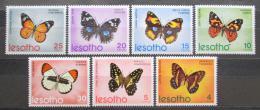 Poštovní známky Lesotho 1973 Motýli TOP SET Mi# 140-46 Kat 20€