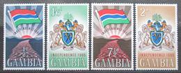 Poštovní známky Gambie 1965 Nezávislost, státní vlajka a znak Mi# 201-04
