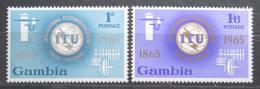 Poštovní známky Gambie 1965 ITU, 100. výroèí Mi# 205-06
