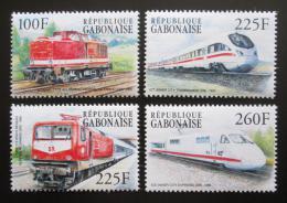 Poštovní známky Gabon 2000 Nìmecké lokomotivy Mi# 1507-10