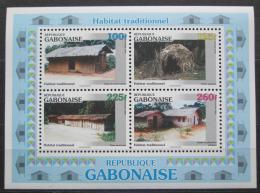 Poštovní známky Gabon 1996 Tradièní bydlení Mi# Block 88