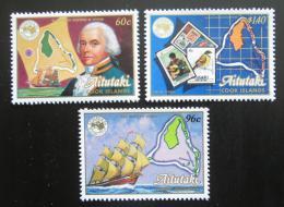 Poštovní známky Aitutaki 1984 Výstava AUSIPEX TOP SET Mi# 537-39 Kat 15€