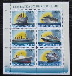 Poštovní známky Komory 2008 Slavné lodì Mi# 1916-21 Kat 14€
