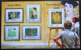 Poštovní známky Niger 2015 Umìní, Gustav Klimt Mi# 3717-21 Kat 24€