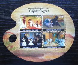 Poštovní známky Niger 2014 Umìní, Edgar Degas Mi# 3125-28 Kat 12€