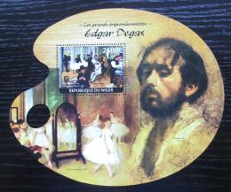 Poštovní známka Niger 2014 Umìní, Edgar Degas Mi# Block 369 Kat 10€